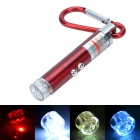 Cheerlink DZ-102 LED White Light Flashlight w/ Carabiner - Red (3 x LR44)