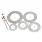 WLXY WL-6-1 7-in-1 Carborundum + Stainless Steel Cutting Grinding Saw Blade Kits - Silver
