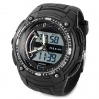 ALIKE AK1282 Sport Plastic Case Rubber Band Quartz Analog Digital Wrist Watch for Men - Black
