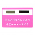 "Portable 1.1"" Screen 9-Digit Solar Powered Card Type Timer - Deep Pink + White"