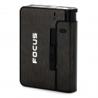 Focus JD-YH001 Convenient 2-in-1 Cigarette Case w/ Detachable Lighter - Black