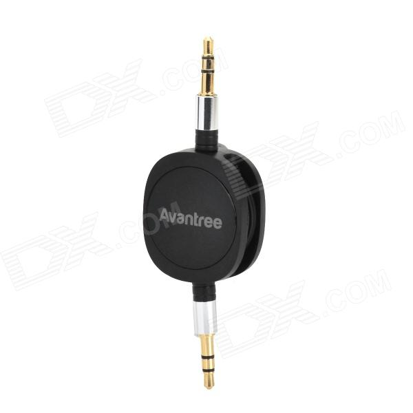 3.5mm Male to Male Retractable Audio Connection Cable - Black + Silver + Golden (Max. 80cm) t050 3w mini portable retractable stereo speaker w tf black golden 16gb max
