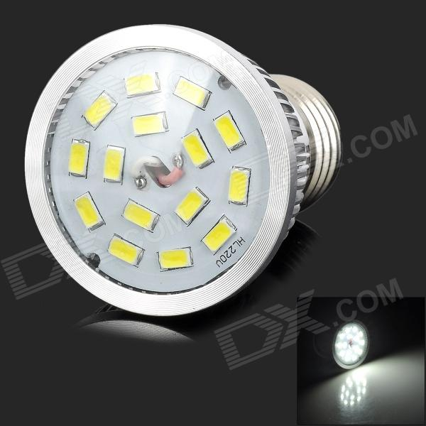 цена на LeXing LX-SD-007 6W 500lm 6000K 15-5630 SMD LED White Light Bulb Lamp (85~265V)
