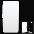 5000mAh Rechargeable Li-ion Polymer Power Case w/ Holder + Card Slot for Sony XL39h - White