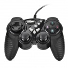 JIETEMEI 906 USB 2.0 Wired Single Player Double Shock Controller for PC Game - Black
