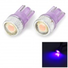 LY463 T10 0.2W 8lm 5050 SMD LED Purple Light License Plate / Clearance Lamp (12V / 2 PCS)