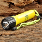 WeiQiang WQ-B11 Rechargeable 3W LED 60lm 2-Mode White Flashlight - Black + Yellow