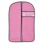 Non-woven Fabrics Zippered Cloth Dustproof Cover Bag - Pink + Brown (Size S)