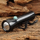WeiQiang WQ-B18 Rechargeable 2-LED White + Purple Flashlight - Black