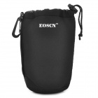 EOSCN Waterproof Protective Neoprene Bag Pouch for DSLR Lens - Black (L)