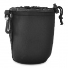 YY-152 Waterproof Protective Neoprene Bag Pouch for DSLR Lens - Black (M)