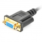 Universal 1080P Mini HDMI Male to VGA Female AV Converting Cable - Black + Golden (30cm)