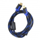 SOUND FRIEND HDMI Male to Male Cable for PC / TV / Projector / Digital Camera - Deep Blue + Black