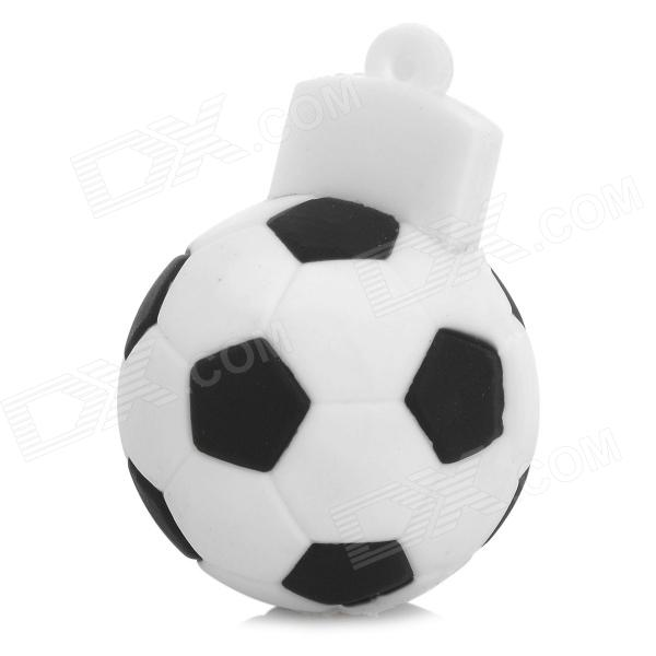 Football Shaped USB 2.0 Flash Drive - Black + White (4GB)