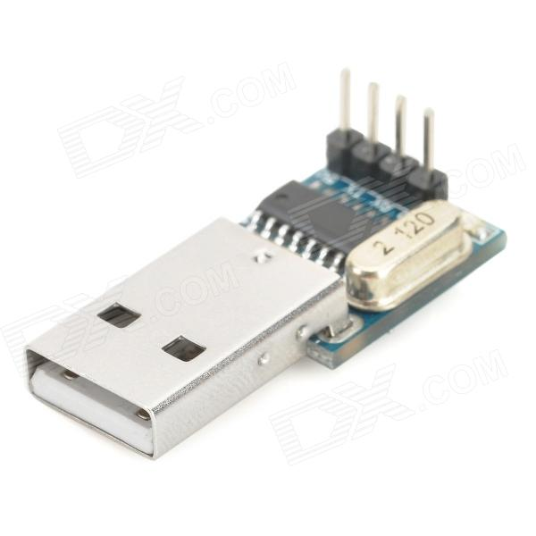 CH340 DIY 5V Mini USB to TTL Board Module - Blue + Silver