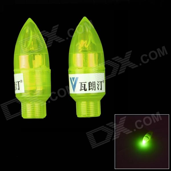 Walangting Bullet Bicycle / Car Wheel Valve Yellow Light Lamp - Yellow (3 x L1131 / 2 PCS)