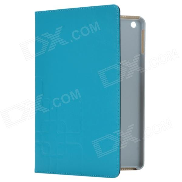 3-Folding Protective PU Leather Case Cover Stand for Ipad AIR - Blue cute faerie pattern protective pu leather case cover stand for ipad air blue