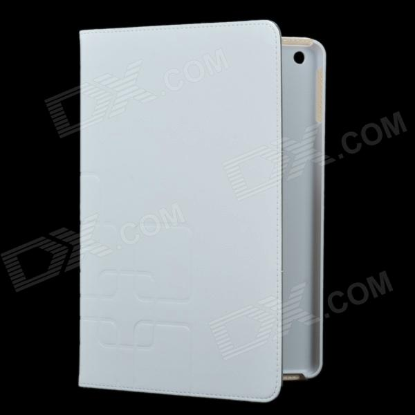 3-Folding Protective PU Leather Case Cover Stand for Ipad AIR - White