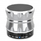 S14 Portable Bluetooth v3.0 2-Channel Speaker w/ Microphone / Hands-Free - Silver + Black
