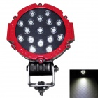 60 Grad FloodBeam 51W 3825lm 6000K 17-LED White Light Car Scheinwerfer - (DC 10 ~ 30V)