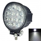 60 Degree Flood Beam 42W 3150lm 6000K 14-LED White Light Car Headlamp - (DC 10~30V)