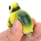 WG-2 Cute Soft Silicone Turtle Pendant Keychain - Yellow + Black + White