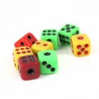 Instant Disappeared Big Dice Magic Props - Black + Transparent + Green + Yellow + Red