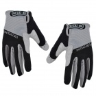 TOPCYCLING TOP901 Outdoor Sports Anti-skid Cycling Gloves - Black + Grey (Size XL / Pair)
