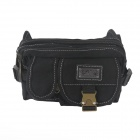 Fashionable Casual Canvas Waist Bag - Black
