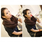 Woman's Stylish Woolen Yarn Scarves - Coffe