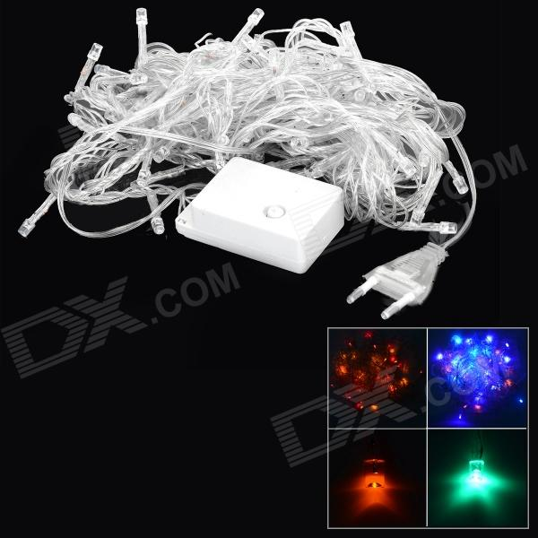 UItraFire EU Plug 6W Christmas Flash 100-LED RGB Light Lamp String - Translucent  (250V)