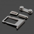 Replacement SIM Card Tray + Volume Button + Mute Button + Switch Button for Black Iphone 5S - Grey