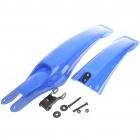 Plastic Cement Bicycle Mudguard (Pair / Blue)