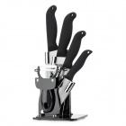 TIMHOME KITCHENWARE U 6-in-1 Kitchen Ceramic Knife Set - Black + Silver