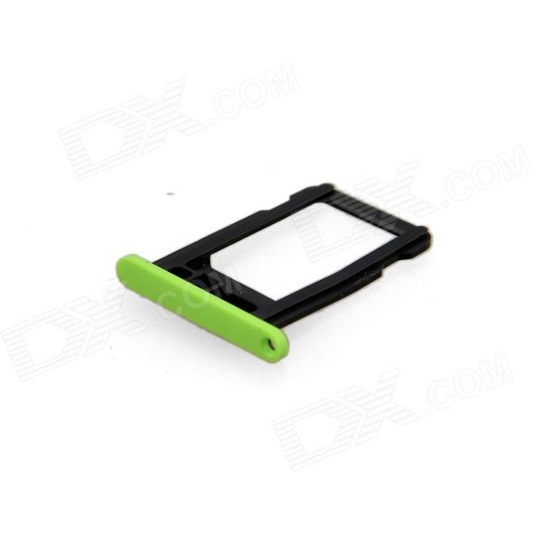 Replacement SIM Card Tray for Green Iphone 5C - Green + Black