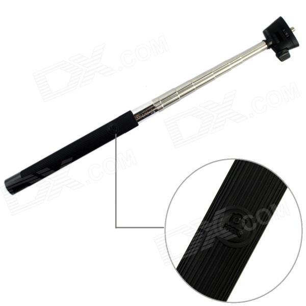 Z07-5 Wireless Bluetooth Mobile Phone Monopod for iOS 4.0 and Above System - Black e commerce 30sets z07 5 bluetooth iphone