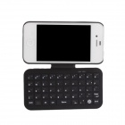 e-J X4 Protective Back Case + Rotatable Bluetooth V3.0 49-Key Keyboard for Iphone 4 / 4S - Black