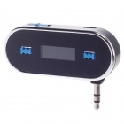 "Compact 0.7"" Screen Car FM Transmitter for Iphone + More - Black + Silver"