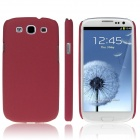 ENKAY Quicksand Style Protective Plastic Back Case for Samsung Galaxy S III / i9300 - Red