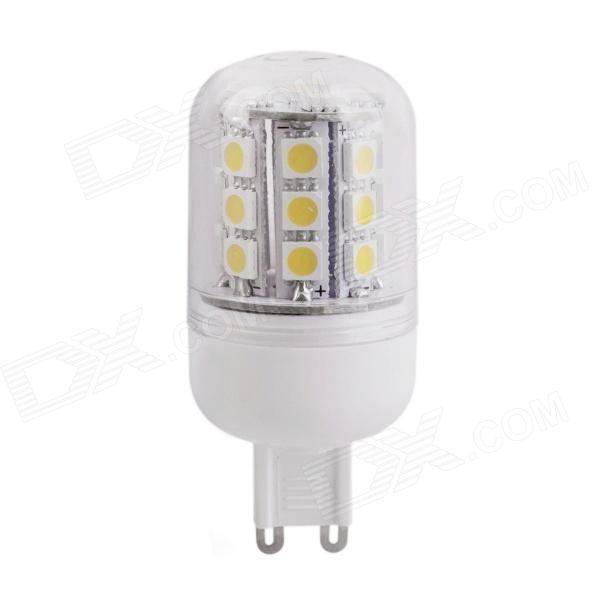 YMD-3 G9 4W 360lm 3000K 30-SMD 5050 LED Warm White Light Bulb - White + Yellow (220~240V)
