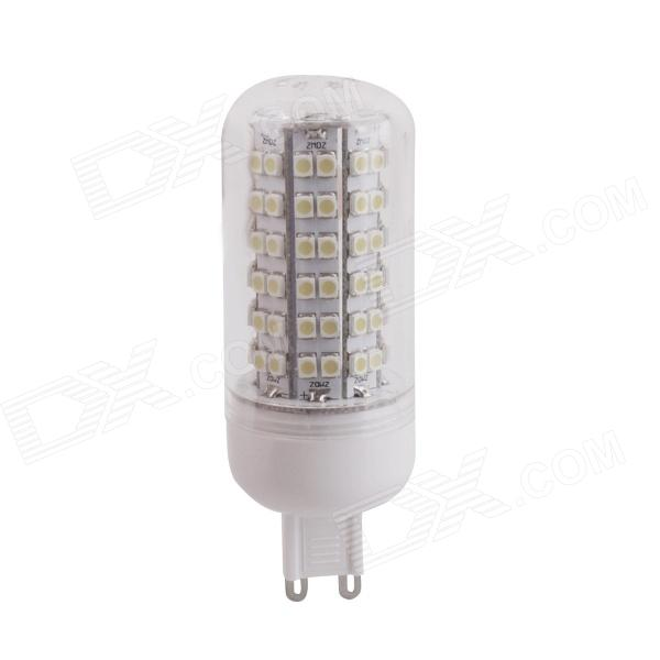 YMD-6 G9 6W 540lm 6500K 108-SMD 3528 LED White Light Bulb - White + Yellow (220~240V)