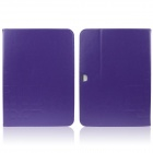 ENKAY ENK-7038 Protective PU Leather Case Stand w/ Card Slot for Samsung Galaxy Tab 3 P5200 - Purple