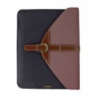 360 Degree Rotation Protective PU Leather Case Cover Stand w/ Auto-Sleep for Ipad 2 / 3 / 4 - Brown