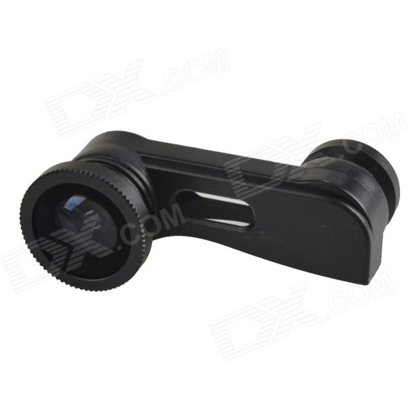 3-in-1 Clip-on Style 0.4X Wide Angle Lens / Fisheye Lens /  Macro Lens Set for Iphone 5 - Black