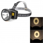 WeiQiang WQ-Q6 Rechargeable 3W LED 60lm 3-Mode Yellow Headlamp - Black