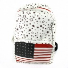 Fashionable Canvas Backpack - Black + Brown + Blue + Red + White + Silver