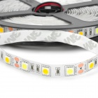 Blanco / caliente luz de la decoración de la lámpara de tira flexible (5 m / 12V) 72W 2000lm 300-5050 SMD LED