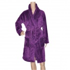 High Quality Warm Coral Fleece Sleepwear Bathrobe - Purple