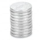 20114 Powerful N38 NdFeB Round Magnet - Silver (10 PCS)