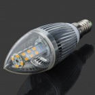 YouOkLight E14 5W 28-LED 2835 460lm 3500K Warm White Light Corn Bulb - Silver (AC 100~250V)